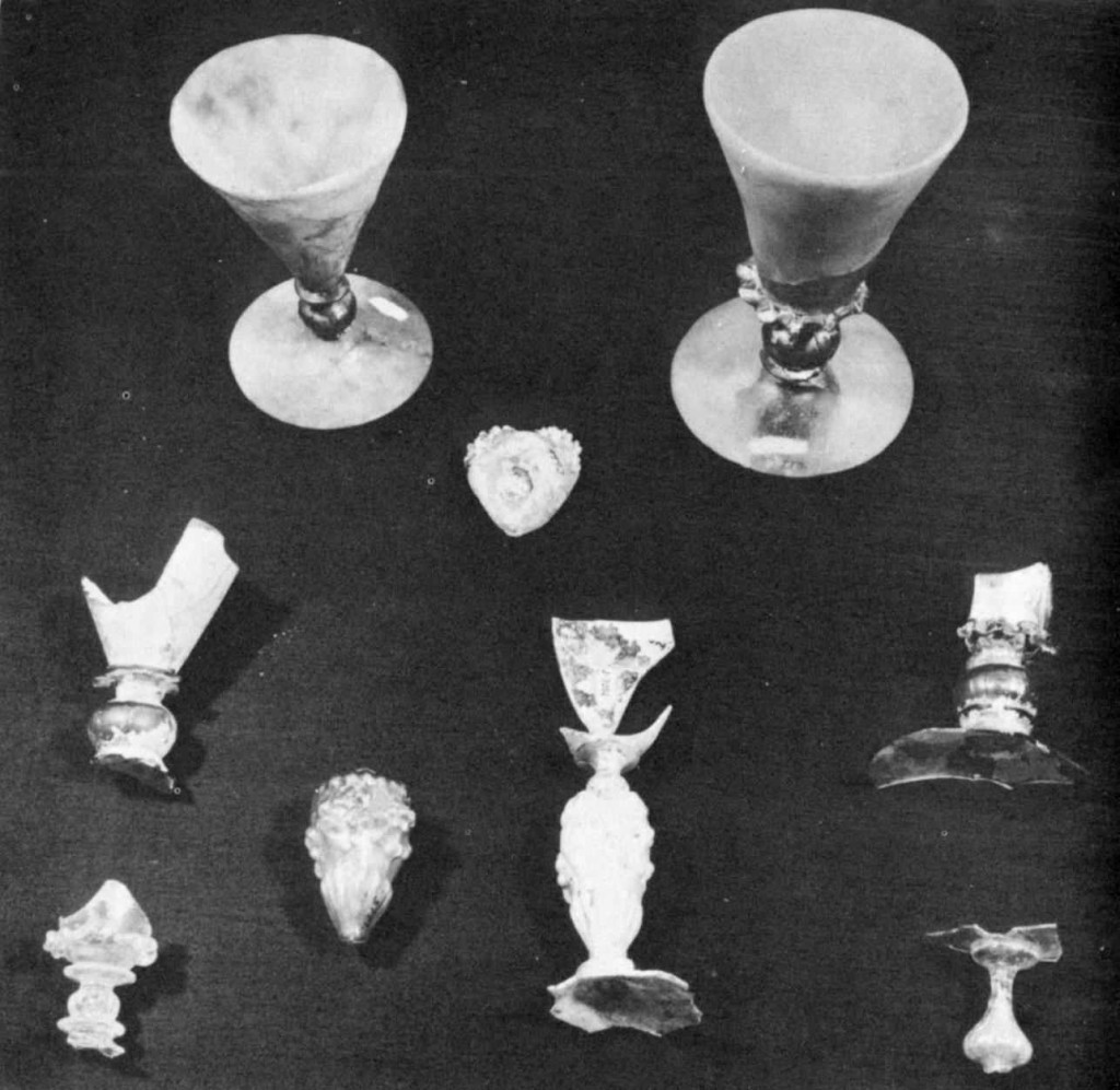 17th century English wine glasses Jamestown