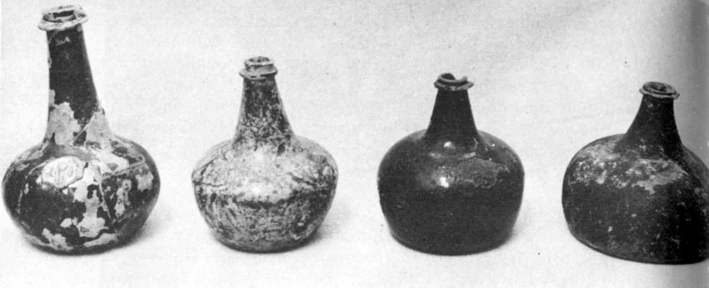 17th century English wine bottles, Jamestown