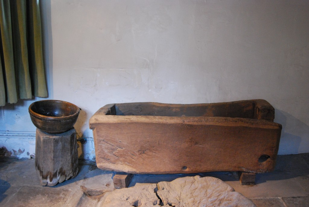 Wooden bowl salting trough, Haddon