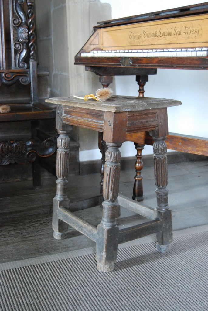 17th century oak stool, Haddon Hall, Derbyshire (©Grand Tours)