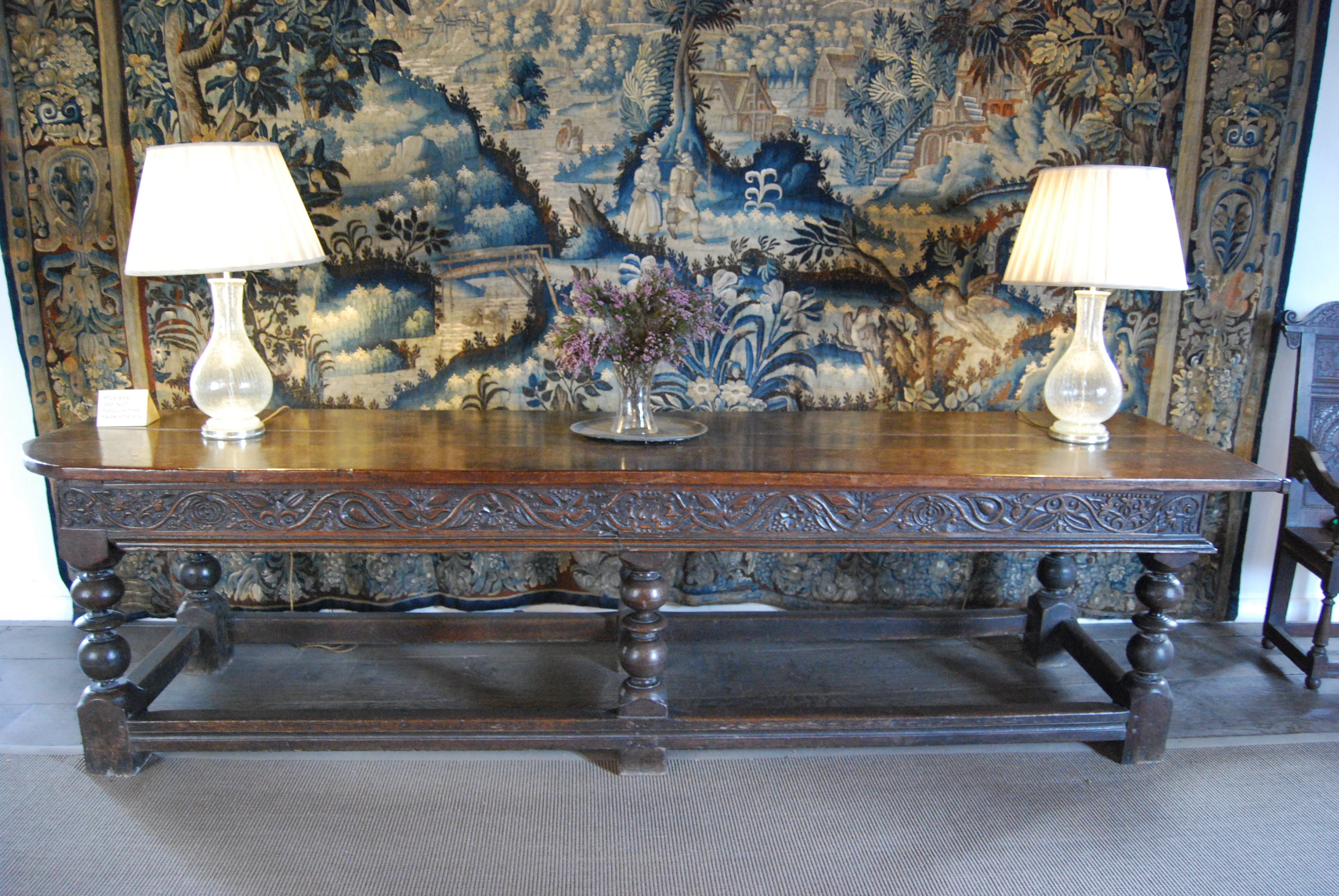 Amazing Tapestry, Oak Table, And Chair, Haddon Hall, Derbyshire (©Grand Tours