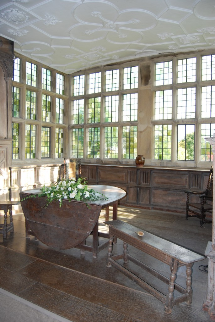 Oak gate-leg table and bench, Haddon Hall, Derbyshire (©Grand Tours)