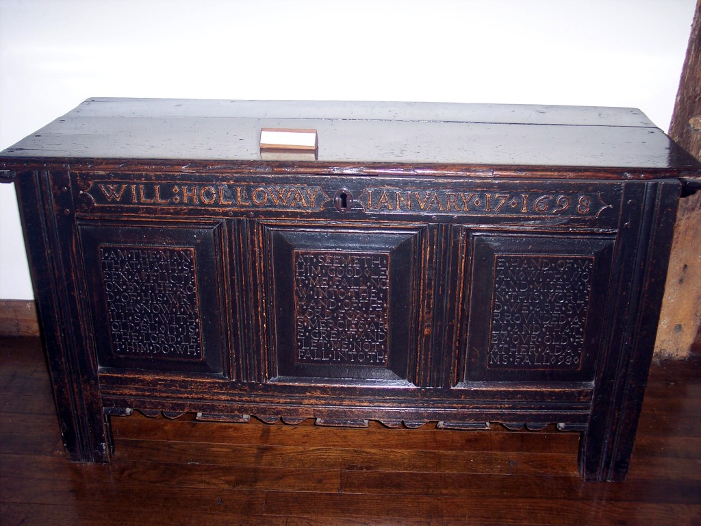 Late 17th century oak chest Diane Earl NEN