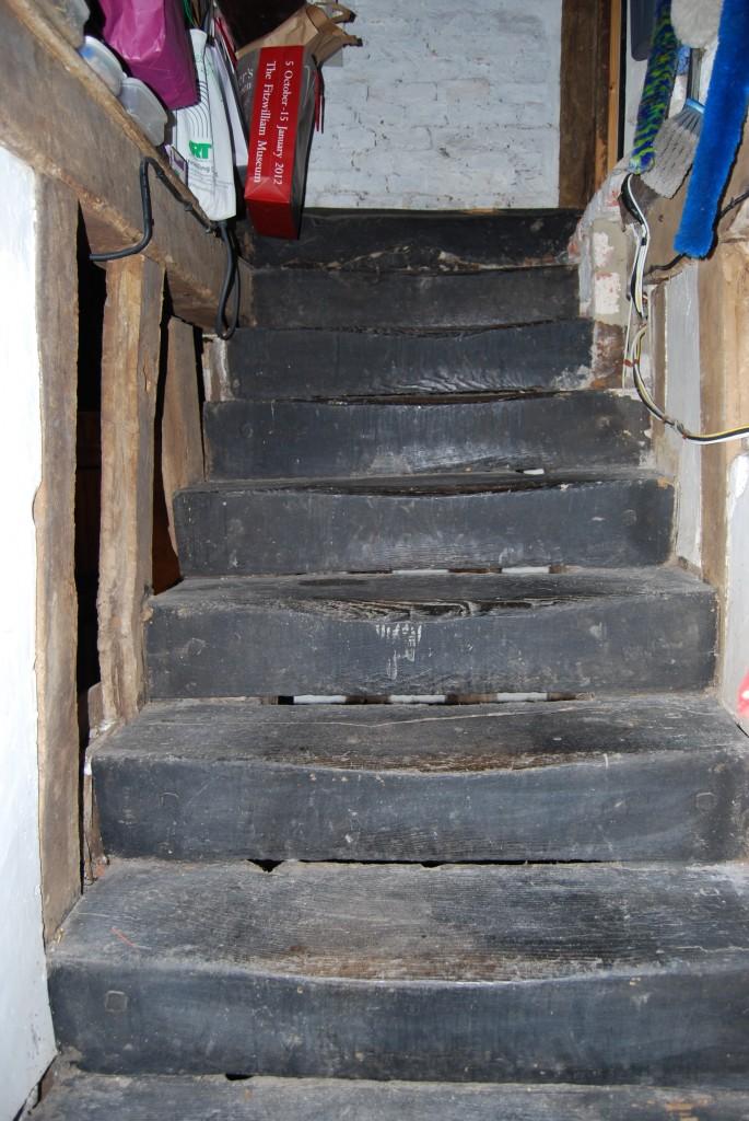 Cellar stairs to kitchen