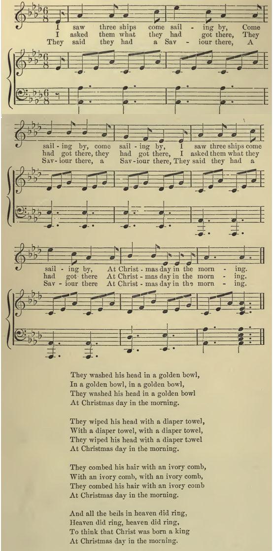 this carol is of course familiar to many today although the melody and lyrics differ to those of the traditional version most commonly sung in the 20th - On Christmas Day In The Morning